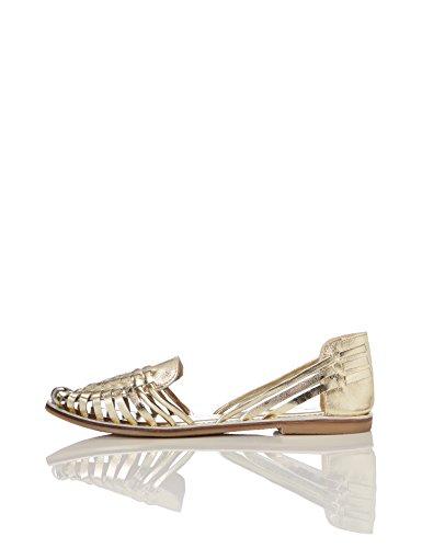 find. Damen Riemchensandalen, Gold (Metalic), 37 EU