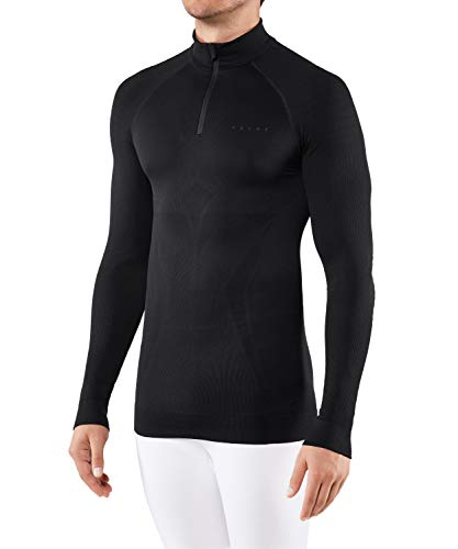 FALKE Herren, Langarmshirt Maximum Warm Funktionsfaser, 1 er Pack, Schwarz (Black 3000), Größe: L