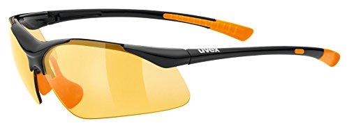 uvex Unisex– Erwachsene, sportstyle 223 Sportbrille, black orange/orange, Einheitsgröße