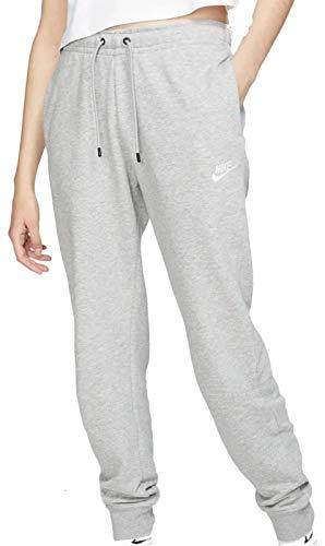 Nike Womens W NSW Essntl Pant Reg FLC Sweatpants, Dark Grey Heather/White, M