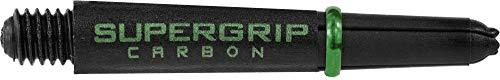 Harrows Supergrip Carbon Schäfte – 3 Sets (9), schwarz / grün, Kurz