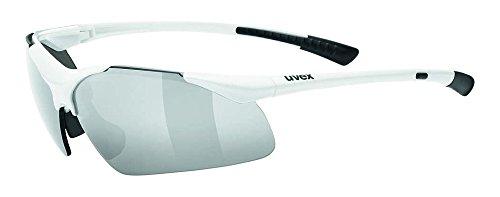 uvex Unisex– Erwachsene, sportstyle 223 Sportbrille, white, one size