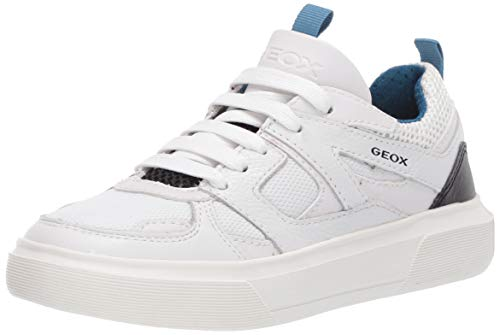 Geox Jungen J NETTUNO Boy D Sneaker, Weiß (White/Petrol C1zj4), 34 EU