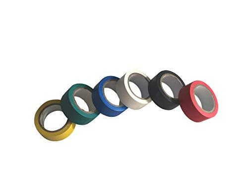 GTSE Gemischtes PVC-Isolierband, 5 m x 19 mm, mehrfarbig, 6 Stück