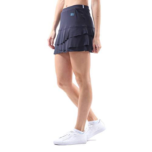 Sportkind Mädchen & Damen Tennis, Hockey, Golf Tulip Rock mit Taschen & Innenhose, UV-Schutz, Navy blau, Gr. 134