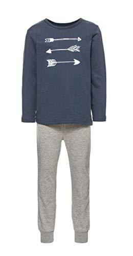 NAME IT Baby-Jungen NMMNIGHTSET Grey Mel NOOS Schlafanzug, Mehrfarbig Melange, 110