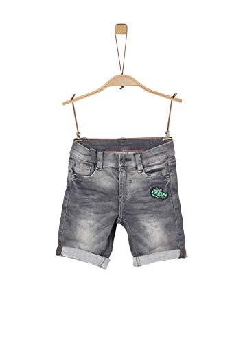 s.Oliver Jungen Hose kurz Jeans-Shorts, 96Z7 Dark gres Denim, 128/ REG