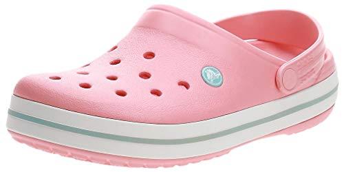 crocs Unisex-Erwachsene Crocband Clogs, Melon/Ice Blue, 42/43 EU