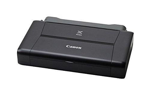 Canon PIXMA iP110 mobiler Drucker Tintenstrahl DIN A4 (9.600 x 2.400 dpi, WLAN, USB, PIXMA Cloud-Link, Apple AirPrint, mit Akku) schwarz