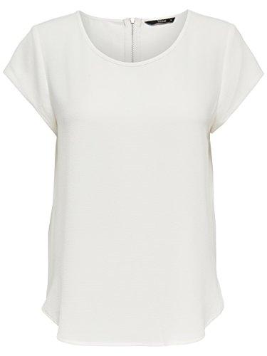 ONLY Damen T-Shirt Onlvic S/S Solid Top Noos Wvn , Weiß (Cloud Dancer Cloud Dancer) , 36