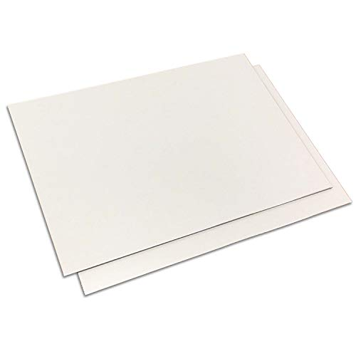 Aluverbundplatte weiß I Größe 40 x 30 cm I 3 mm I für Modellbau Messebau Beschilderung Heimwerker Siebdruck und Digitaldruck I zum Basteln