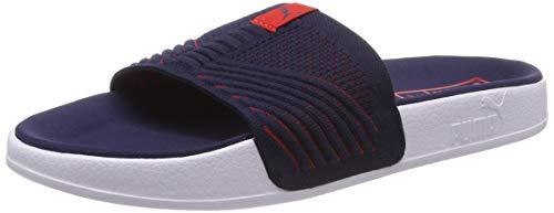 PUMA Leadcat Knit Premium, Unisex Badeschuhe, Blau (Peacoat-HIGH Risk RED 02), 40.5 EU (7 UK)