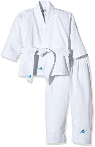 adidas Karateanzug K200E Kids Kinder Judo Anzug (inkl. Gürtel), Weiß, 140-150 cm