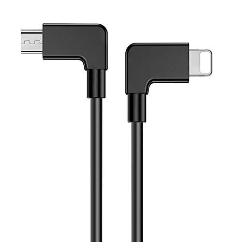 iEago RC Video Daten Kabel, Micro USB zu IOS OTG Datenkabel Reverse Connector für DJI MAVIC PRO/SPARK/Mavic Air/Mavic 2 Pro & Zoom/Mavic Mini Fernbedienung für IOS Handy und Tablets