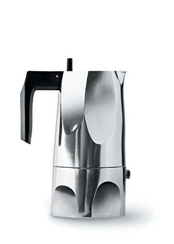 Alessi Espressomaschine Ossidiana, Edelstahl, Alu, 3.5 x 18.5 x 40.5 cm