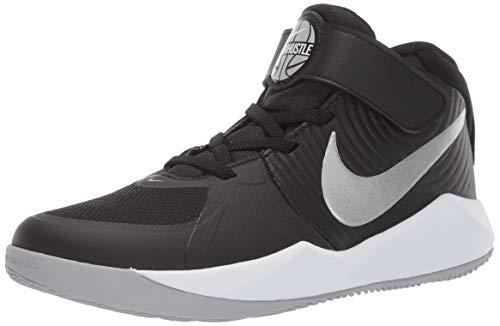Nike Team Hustle D 9 (ps) Basketballschuhe, Mehrfarbig (Black/Metallic Silver/Wolf Grey/White 000), 35 EU
