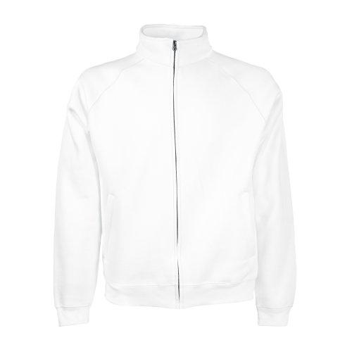Classic Sweatjacke - Farbe: White - Größe: XXL