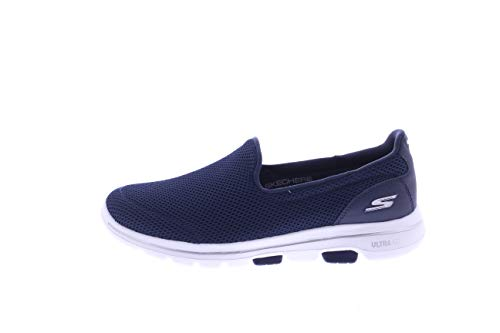Skechers Women's GO Walk 5 Trainers, Blue (Navy Textile/White NVW), 6 (39 EU)