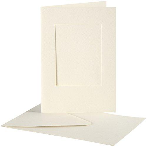 Bilderkarten mit Rahmen, rechteckig, 10,5 x 15 cm, Weiß, 10 Stück