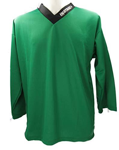 Instrike Profi Trainings Trikot für Eishockey und Inlinehockey Kinder und Erwachsene Trikots mit dezente Logo um ggf noch Extra Bedruckt zu Werden (XXL 190+, grün)