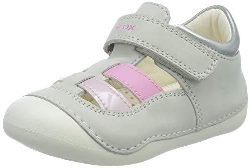 Geox Baby-Mädchen B TUTIM A Sandalen, Weiß (White/Pink C0406), 21 EU