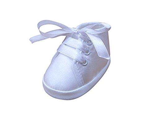 Seruna Festliche-r Baby-Schuh TP13/00 Gr. 16 Tauf-Schuhe weiß für Babies Junge-n und Mädchen zu Hochzeit-en