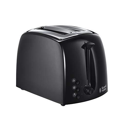Russell Hobbs 21641 Textures Plastic Wide 2 Slice Toaster - Black {4008496855421}