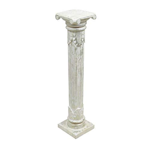 indochine-interiors.de Blumensäule-Deko-Säule-Podest-Monolith-Beistelltisch-Pflanzenhocker-Vintage- 100 cm Höhe