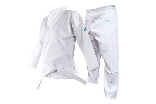adidas Unisex-Jugend Adistart Karateanzug 197 g Kampfsport Student Gi, Adistart Karateanzug für Kampfsport, 200 g, K201, weiß, 140 cm