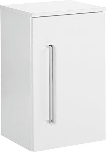 Fackelmann Unterschrank LUGANO / Schrank zum Aufhängen / Badmöbel / Maße (BxHxT): ca. 35,5 x 59 x 32 cm/ Korpus Farbe Weiß / Front Farbe Weiß Hochglanz / Breite 35,5 cm / Schrank fürs Bad