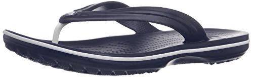 Crocs Unisex-Erwachsene Zehentrenner Zehentrenner Crocband Flip, Blau (Navy), 48-49 (Herstellergröße: M13)