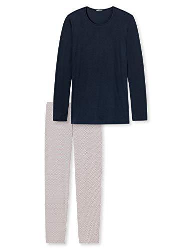 Schiesser Damen Anzug lang Zweiteiliger Schlafanzug, Blau (Blau 800), 40 (Herstellergröße: 040)