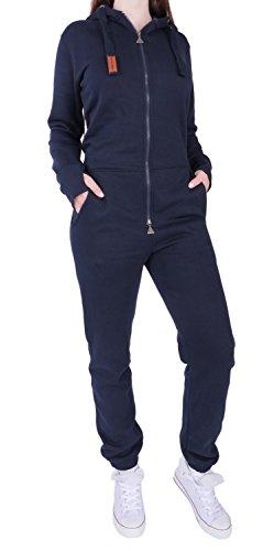 7C2 Finchgirl FG181 Damen Jumpsuit Overall Einteiler Jogging Anzug Navy XS