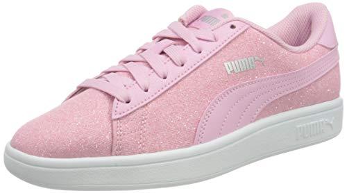 PUMA Smash V2 Glitz Glam JR Sneaker, Blassrosa Blassrosa, 35.5 EU