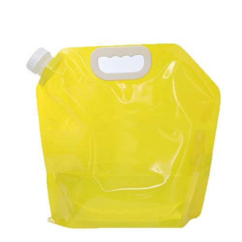 Faltbare Gießkanne Tragbar Trinkwasser Wasserbehälter Wassertank Wasserspeicher für Camping, Outdoor, Wandern, Angeln, Reisen(Gelb)