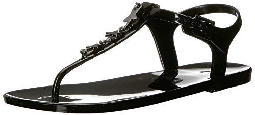 Armani Exchange Damen Star Rubber Sandal Zehentrenner, Schwarz (Black 00002), 35.5 EU