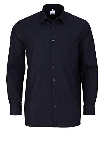 OLYMP Luxor Comfort fit Hemd Langarm mit New Kent Popeline schwarz Größe 44