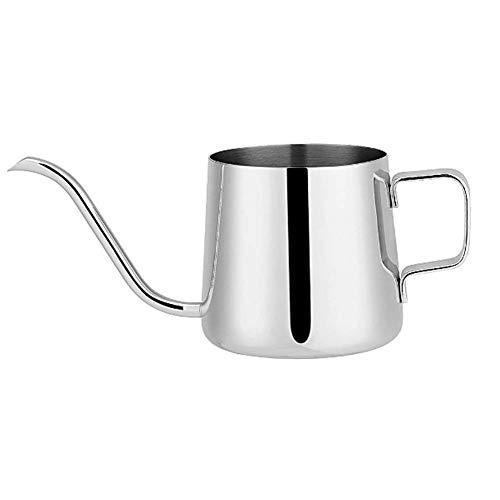 Molinter Kaffeekessel Kaffeekannen Schwanenhals Edelstahl Wasserkocher Teekanne für präzises Ausgießen (600ML, Silber)