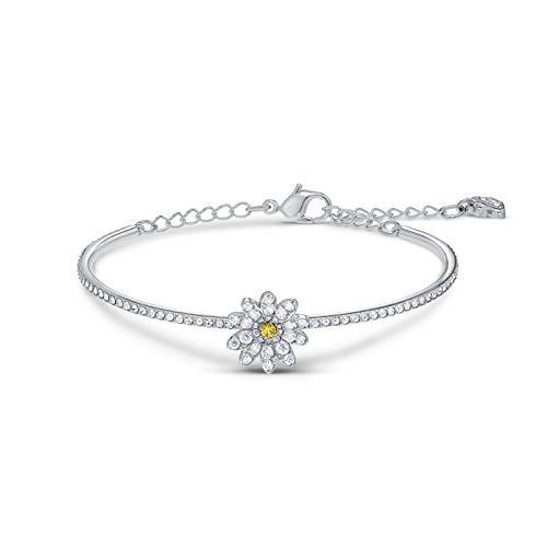 Swarovski Damen-Armreif ETERNAL FLOWER ARMREIF Metall, Metall Swarovski-Kristall One Size 87904202