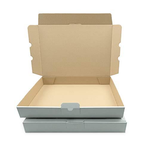 25 Maxibriefkartons 350x250x50mm Weiss Versand Post Faltschachtel MB-5