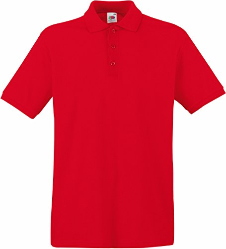 Fruit of the Loom Premium Polo Rot M