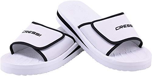 Cressi Unisex– Erwachsene Shoes Panarea Slipper für Strand und Schwimmbad, Weiß, 40 EU