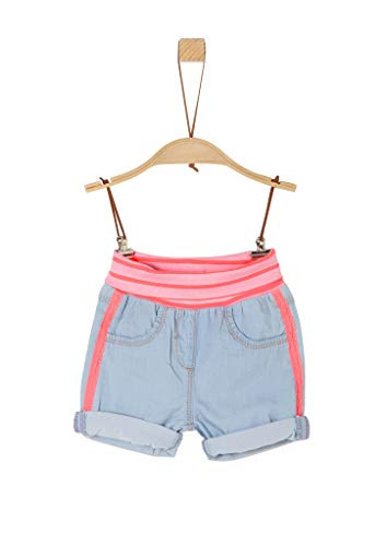 s.Oliver Junior Baby-Mädchen 405.10.005.26.180.2021898 Jeans-Shorts, 53Y2 Light Blue Non STR, 74/REG