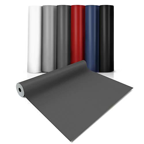 CV-Belag Expotop | Zuschnitt | Verschiedene Breiten, viele Farben, Meterware | Bodenbelag PVC Länge auf Maß (100 x 100 cm, Anthrazit)