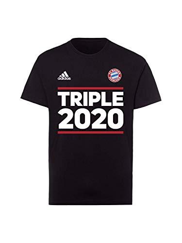 FC Bayern München T-Shirt Triple 2020 schwarz, XL