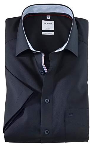 OLYMP Luxor Comfort fit Hemd Halbarm New Kent Kragen Nachtblau Größe 42