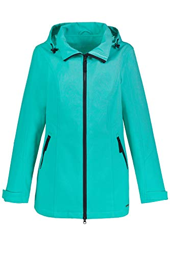 GINA LAURA Damen Softshell-Jacke, Kapuze abnehmbar, 2-Wege-Zipper jadegrün M 728038 46-M