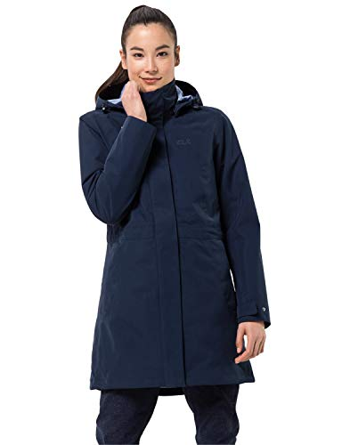 Jack Wolfskin Damen OTTAWA COAT wasserdichter 3in1 Mantel, Midnight Blue, S