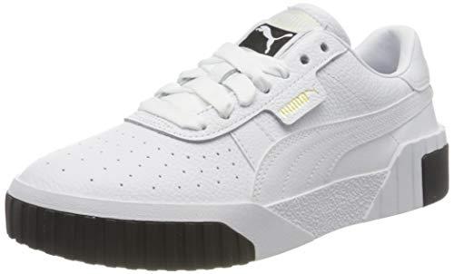 PUMA Damen Cali Wn S Sneaker, White Black, 38.5 EU