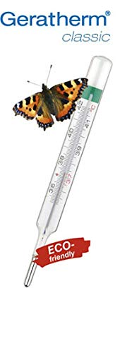 Geratherm classic, Analoges Fieberthermometer ohne Quecksilber, lebenslang garantierte Messgenauigkeit, Made in Germany